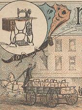 1880's ORANGE MA * NEW HOME TRADE CARD * WAGONS, SHIPS, DOGS, MAN FREE SHIP TC72