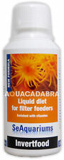 SEAQUARIUMS INVERTFOOD 250ml LIQUID DIET MARINE FILTER FEEDER AQUARIUM FISH TANK