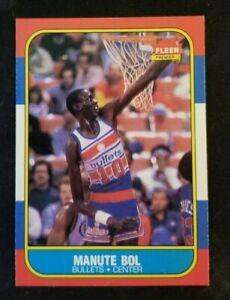 1986 Fleer Basketball Manute Bol ROOKIE RC #12