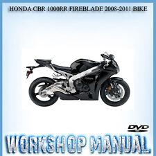 HONDA CBR 1000RR FIREBLADE 2008-2011 BIKE WORKSHOP REPAIR SERVICE MANUAL IN DISC