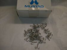 NEW 45 count O. Mustad & Son # 35504 Treble Hook 3X Tinned Size 4 Made in Norway