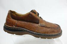 DR. MARTENS Leather Low-Top Brown Sz 12 M Men Lace-Up Oxfords