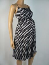 Ann Taylor Loft Maternity Black Beige Flower Soft Jersey Dress L Maternity  A858