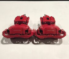 SERIE di Genuine Jaguar XKR, XFR pinze dei freni rosse tra cui PADS