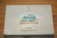 MERCEDES A CLASS OWNERS HANDBOOK MANUAL 2000-2004 PRINT DATE 03/08/2001