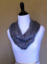 Ladies Womens FASHION INFINITY KNIT SCARF *GRAY / GREY*  ~NEW with TAGS~