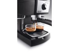DeLonghi EC155  Espresso Machine With Frother and Built in Tamper - Black