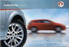 Vauxhall Corsa Meriva Astra Zafira Active & Plus 2009-10 UK Market Brochure