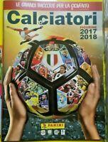 ALBUM FIGURINE CALCIATORI PANINI 2017,2018 VUOTO EDICOLA FOOTBALL STICKER SOCCER