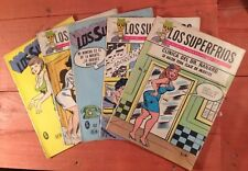 Los Superfrios Mexican Comic, In B&W, Spanish, (60's) Lot Of 5