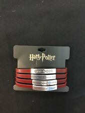 Harry Potter  Gryffindor Bioworld Bracelet muilti row Faux Wrap new bracelet red