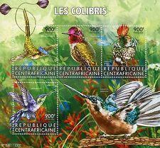 Central African Republic 2015 MNH Hummingbirds 4v M/S Birds Spatuletail Coquette