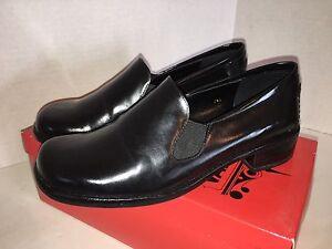 "Vaneli Women's Marleen Size 7 Medium Black Calf Slip On 1.25"" Casual Loafers"