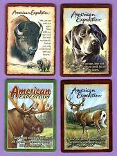 4 Single Swap Playing Cards American Expedition Buffalo Deer Moose Dog Bison
