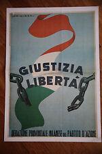 Manifesto Poster Riproduzione propaganda Partito d'Azione