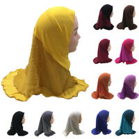 One Piece Muslim Kid Girl Hijab Turban Headscarf Scarf Prayer Amira Wrap Islamic