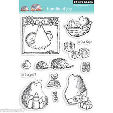 New Penny Black BUNDLE OF JOY Clear Stamps Baby Booties Boy Girl Hedgy Craddle