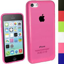 Pink Rosa TPU Gel Case Cover Tasche Hülle für Neue Apple iPhone 5C + Schutzfolie