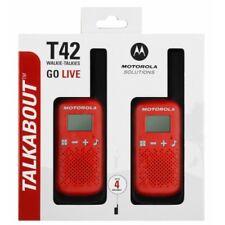 MOTOROLA Talkabout T42 Walkie Talkie, Two-way Consumer Radio, Red