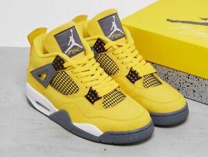 2021 Nike Air Jordan 4 Retro IV Lightning Tour Yellow CT8527-700 Men's & Kids