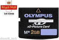 2GB XD MEMORY CARD TYPE M+ XD-PICTURE CARD OLYMPUS FUJI - 100% Genuine