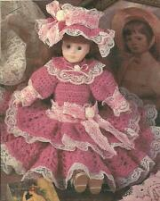 "*Alexandra Dress for 13"" Soft Body Porcelain Doll crochet PATTERN INSTRUCTIONS"