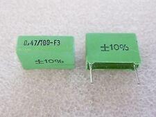 2 condensateurs 0,47uF 470nF 100V ERO MKT1822