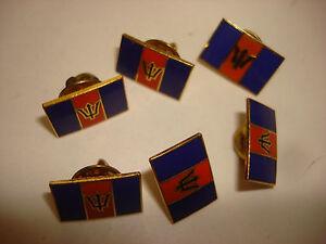 Lot De 6 Barbades Drapeau Cravate Broches Revers Avec Clutchback. Cadeau Idéal