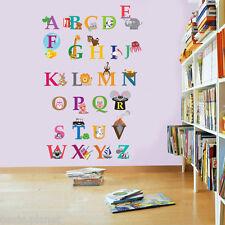London Zoo Alphabet Kid's Boys Girls Babies Nursery Room Children Wall Stickers