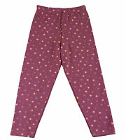 JACADI Girls Aspe Plum Elastic Waist Cotton Straight Leg Pant SZ 8 Years NWT $32