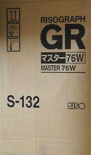 Riso Risograph Master 76W S-132 für GR 3750 OVP A