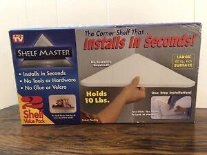 "Shelf Master Corner Shelf Holds 10 Pounds Set of Two ""As Seen On TV"""