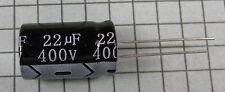 22uF 400V 105ºC 13x21mm Electrolytic Capacitor: 10pcs per lot