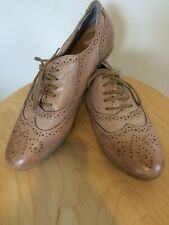 Belle & Mini Womens Tan Leather Lace up Shoes - Size 41