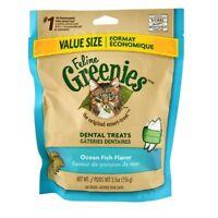 Greenies Feline - Ocean Fish Cat Treat - 5.5oz - prevent buildup plaque