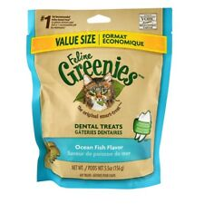 Greenies Feline - Ocean Fish Cat Treat - 5.5oz - prevent the buildup of plaque !