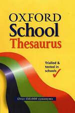 OXFORD SCHOOL THESAURUS, Spooner, Alan, Very Good Book