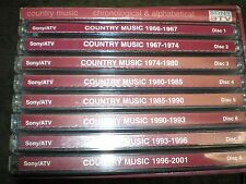 Rare Sony ATV Promo ONLY 8 Cd Set Country Music 1956-2001 Vg