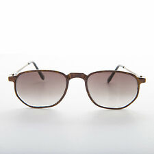 Rectangular Carbon Fiber Lightweight Vintage Sunglasses Brown -Falcon