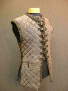 Padded-Bright-Colour-Cotton-Gambeson-Sleeveless-Armor-Halloween-Gift