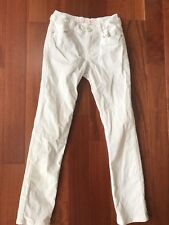 Girls Gymboree White Sparkle Corduroy Pants 8 Euc