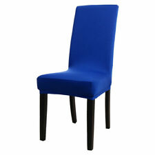 Removable Stretch Spandex Chair Cover Dining Room Seat Protector Blue PiccoCasa