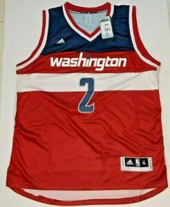 NEW ADIDAS NBA WASHINGTON WIZARDS JOHN WALL #2 JERSEY RED WHITE BLUE SIZE XL