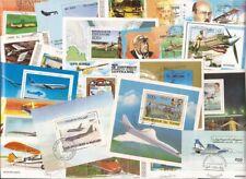 Aviones Colección de Sellos - 25 Diferentes Sello Souvenir Hojas