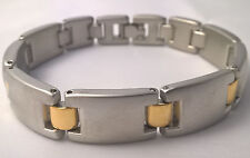 G-Filled Men's 18kt white and yellow gold 44.3 gm two tone bracelet Gents 7 inch