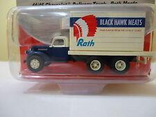 Classic Metal Works - HO #30298 1941-46 Chevy Box Truck Black Hawk Meats