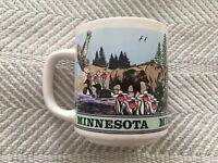 Vintage Minnesota Wildlife Nature Outdoor Souvenir Mug Teal Insides Ceramic EUC!
