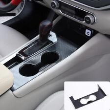 Carbon Fiber Interior Water Cup Holder Frame Cover For Nissan Altima 2019 2020