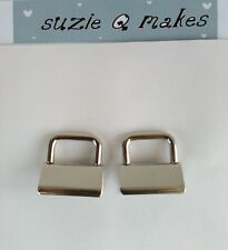 2 x wrist strap end clamps/ findings