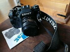 Vintage Zenit 122 35mm SLR Camera with Unitor 35mm Wide Angle Lens.
